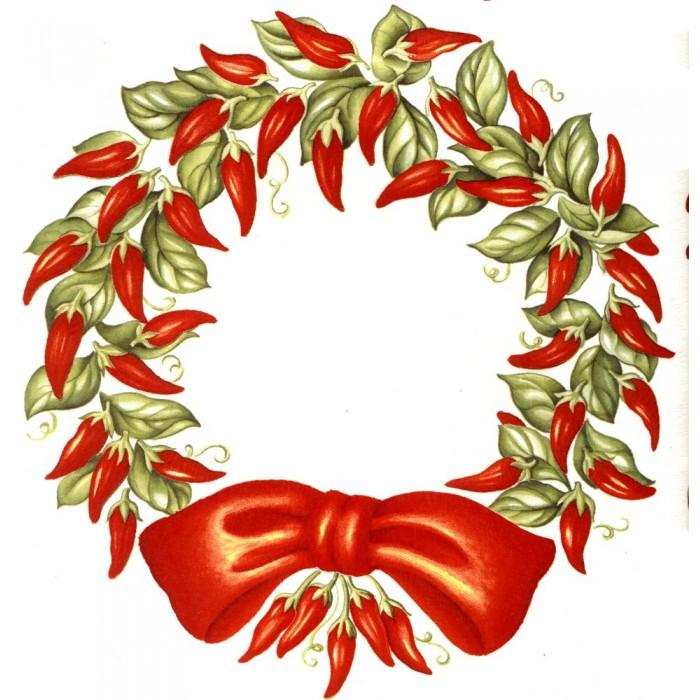 Wreath clipart chili pepper Virma 700x700 download clipart 3106