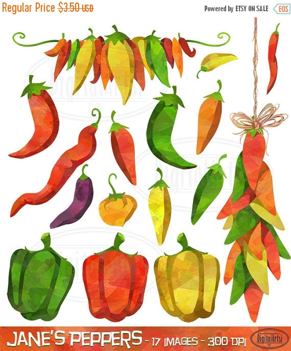 Pepper clipart fiesta Peppers Clipart 50% Spices OFF