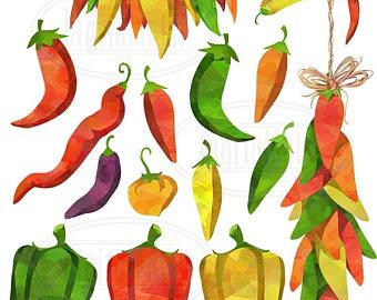 Pepper clipart fiesta Clipart Etsy 50% pepper Food