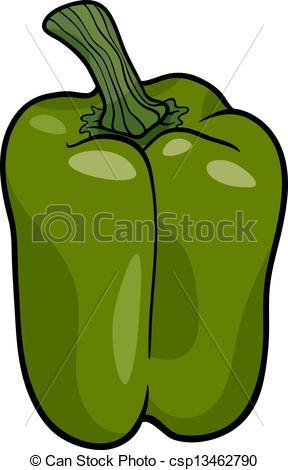Pepper clipart green vegetable Vegetable pepper illustration Vector illustration