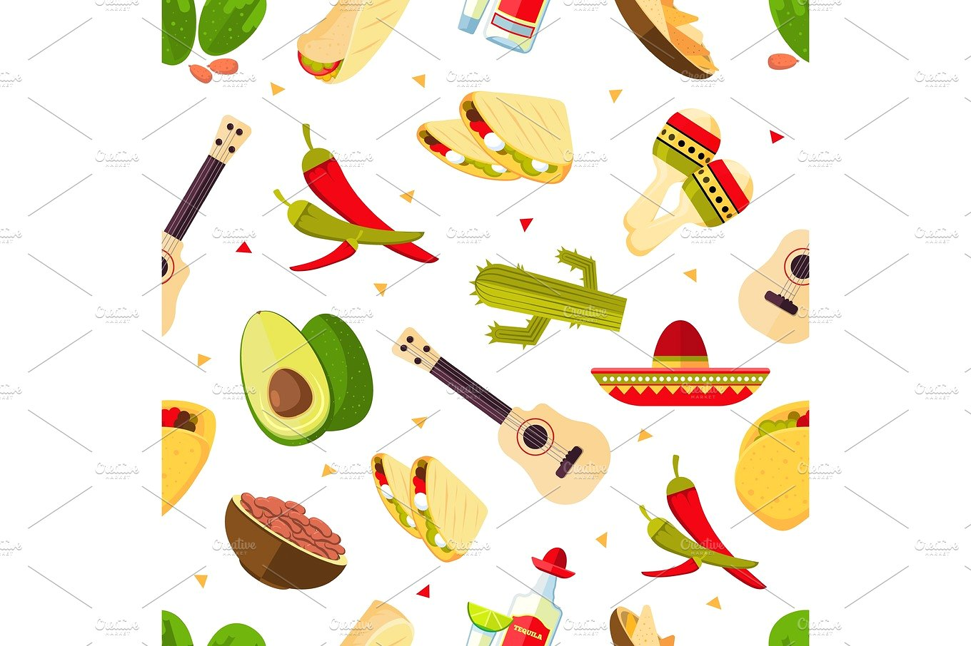 Pepper clipart mexican dinner Mexican hot Taco on Mexican