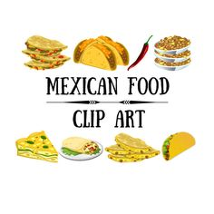 Pepper clipart mexican dinner Free Set Mexican house Food