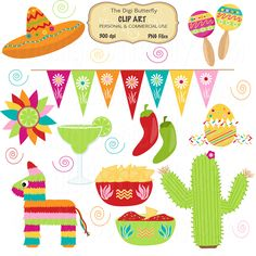 Decoration clipart mexican decoration Art Stock Royalty Party Vector
