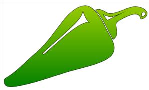 Pepper clipart vector Online art vector Green Clip
