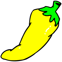 Chili clipart green capsicum And Yellow Art Themed Borders