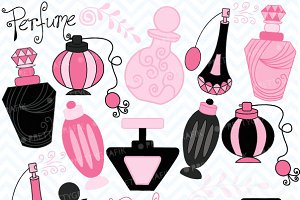 Perfume clipart Fonts Parisian Graphics Themes commercial