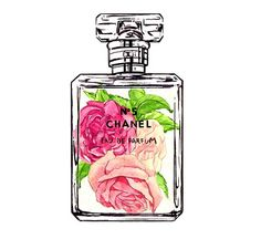 Perfume clipart chanel no 5 Art Chanel bottle and No
