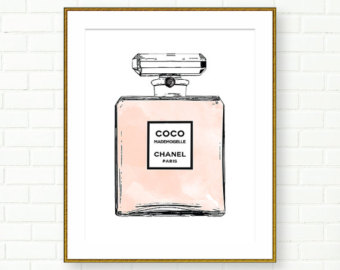 Perfume clipart coco chanel Art Perfume Chanel French Etsy