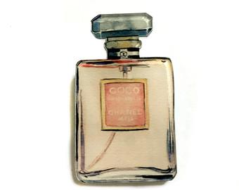 Perfume clipart coco chanel Parfum Fashion Chanel bottle pin