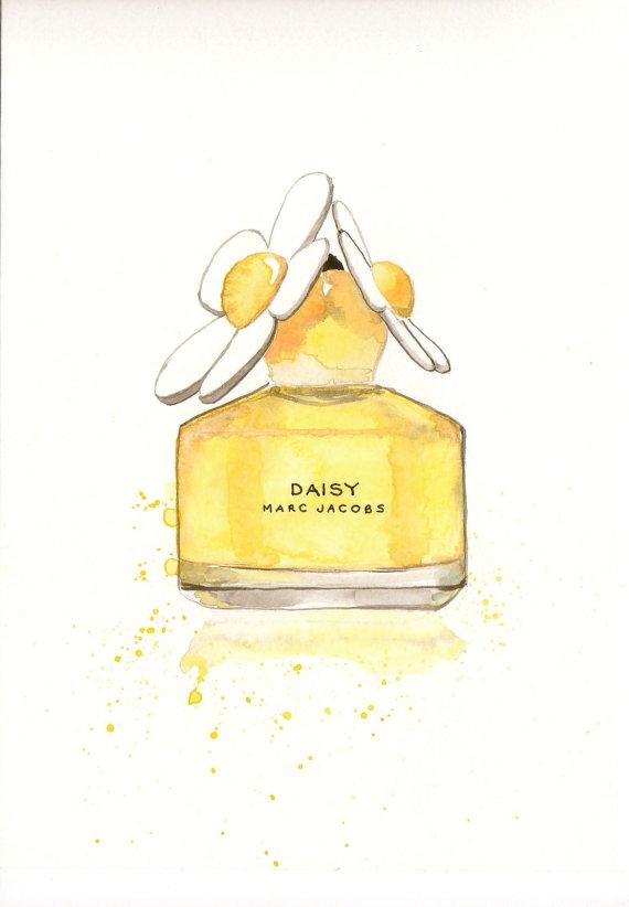 Perufme clipart daisy Watercolor bottle bottle Jacobs Perfume