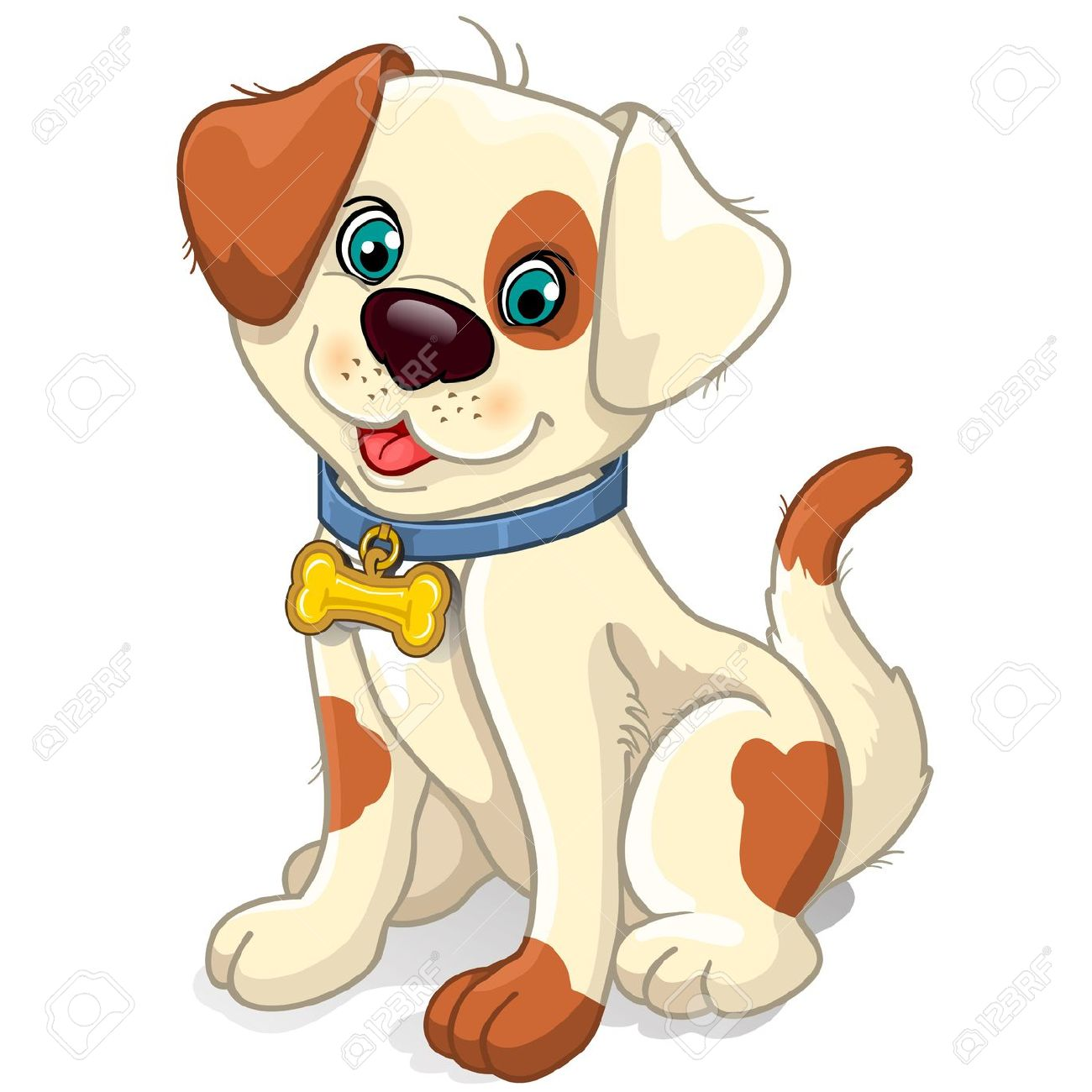 Perro clipart dog sitting : mesh sitting dog bone