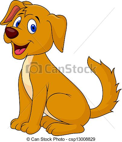 Perro clipart puppy Cut sitting csp13008829 dog Cut