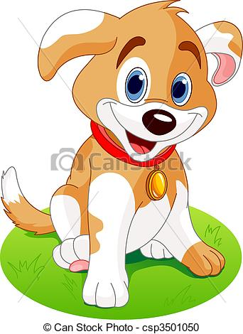 Perro clipart dog sitting On the Puppy  meadow