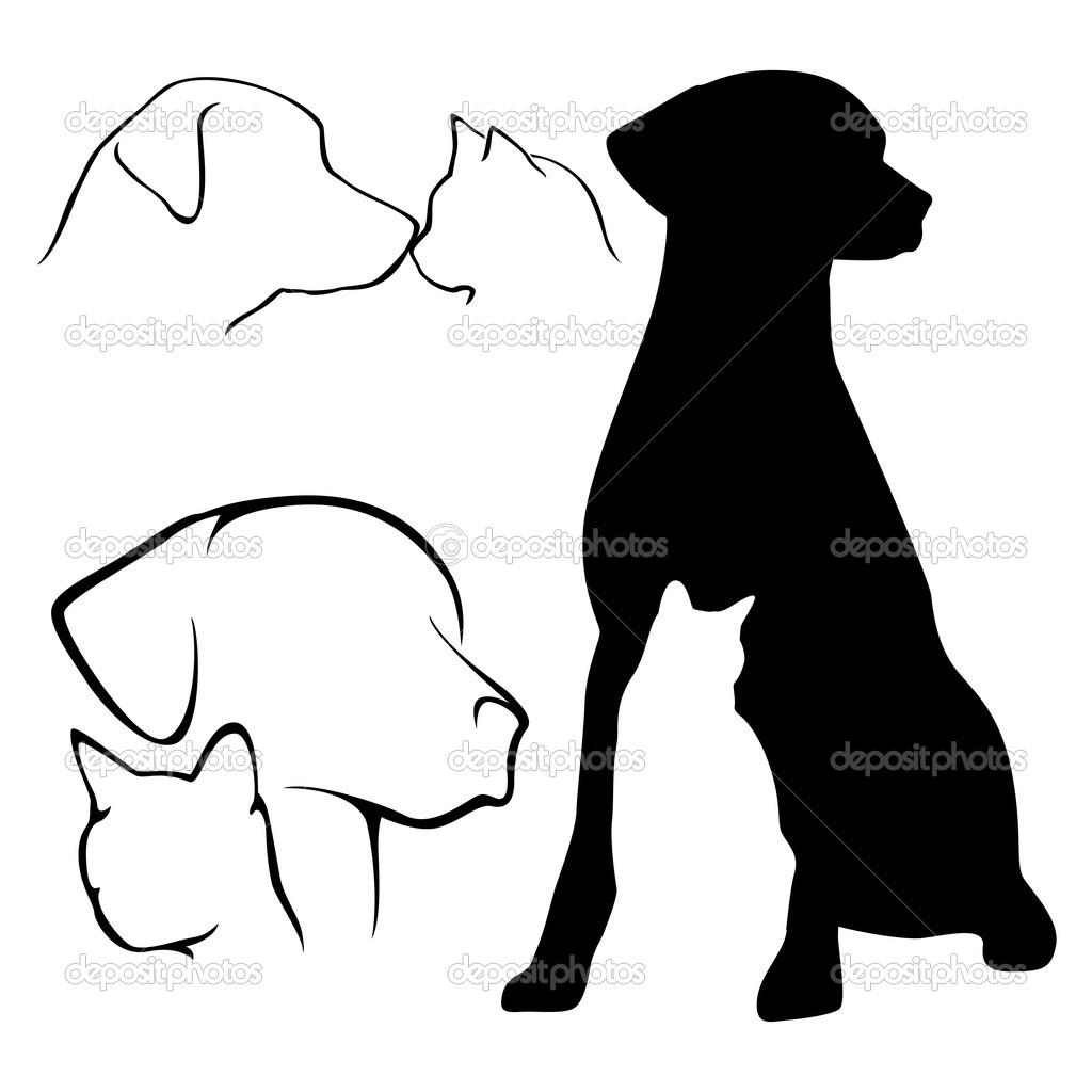 Perro clipart dog outline De perro — — gato