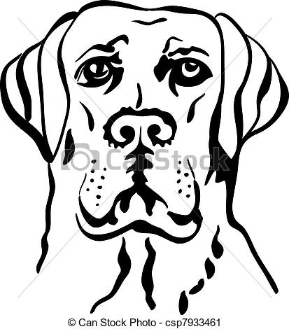 Perro clipart dog outline Clipart Drawing Vector Orange Wiring