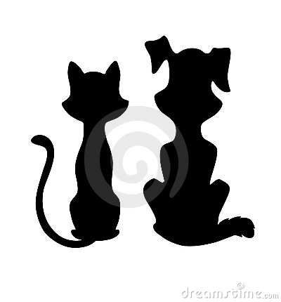 Perro clipart dog outline And Clipart Cat Dog Images