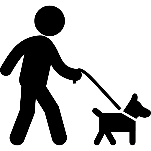 Perro clipart dog sitting Walking a with animals a