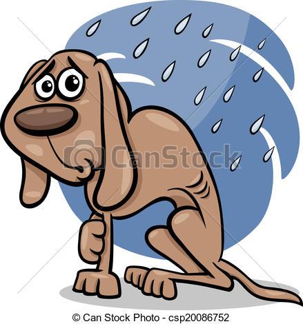 Perro clipart stray dog Art cartoon illustration of dog
