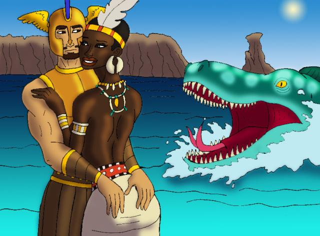 Perseus clipart disney And Tyrannoninja's Perseus Embrace Andromeda's