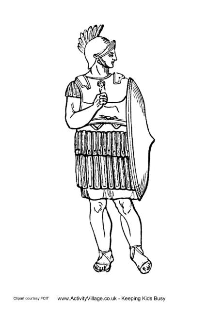 Perseus clipart greek soldier Page Shield Greece Colouring Ancient