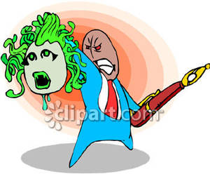 Perseus clipart medusa The Royalty Businessman Free Holding
