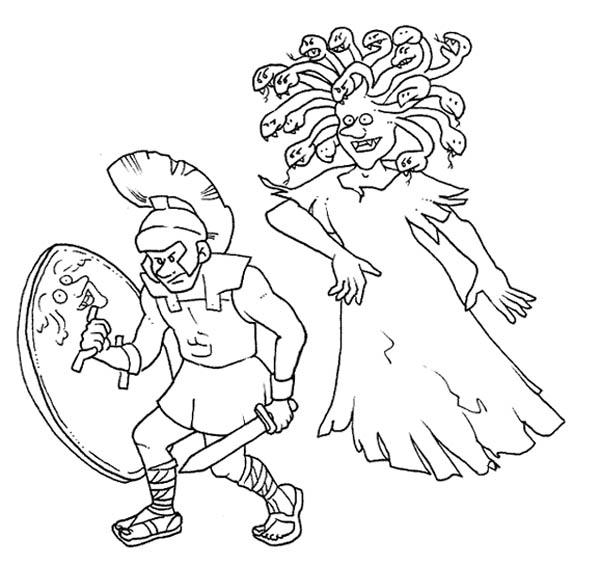 Perseus clipart medusa Medusa NetArt Page Coloring Eyes