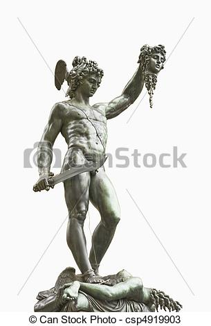Perseus clipart medusa head Stock Florence isolated Italy