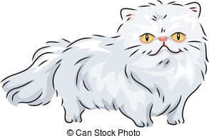 Persian Cat clipart cute cat  Persian Clip 847 Illustration