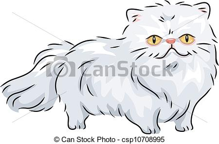 Persian Cat clipart cute cat Persian Cat EPS a of