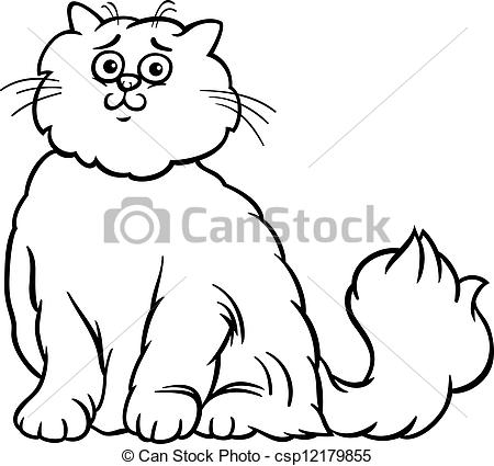 Persian Cat clipart cartoon Clipart csp12179855 and cartoon coloring