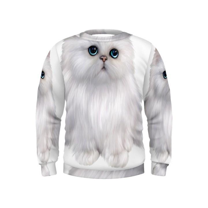 Persian Cat clipart full white Clipart Sweatshirt White Persian Cat