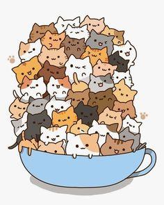 Persian Cat clipart kawaii cat Is Kittens Persian feel Teacup