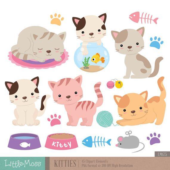 Persian Cat clipart kawaii cat Prediseñadas Imágenes imágenes Pinterest Gatitos