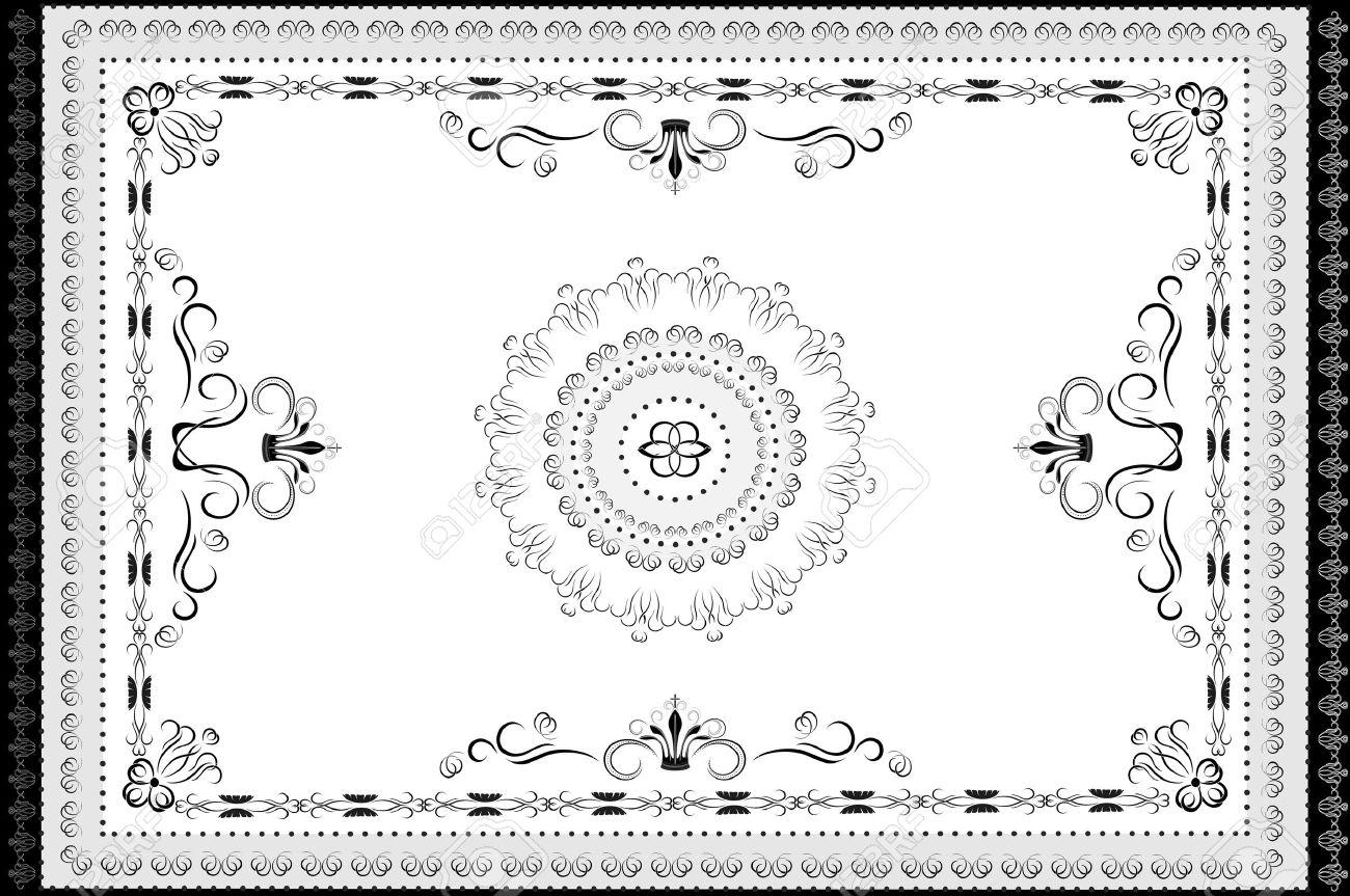 Oriental clipart rug Clip Black Cliparts white Carpet