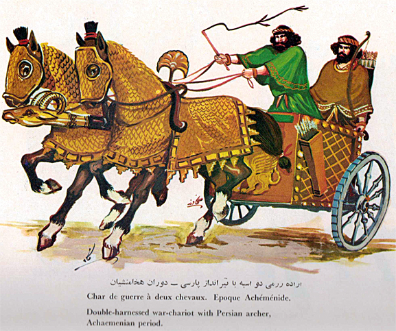 Persian clipart chariot Armored Horse History Club: Iran