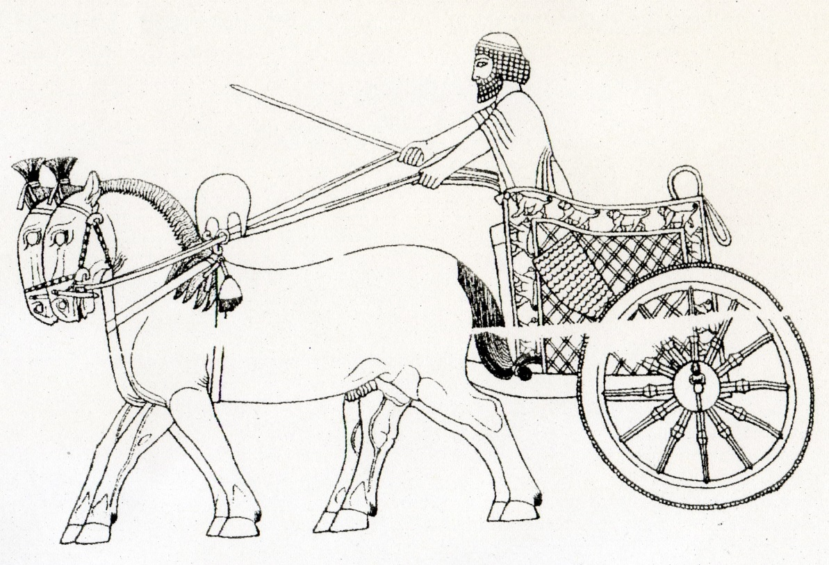 Persian clipart chariot Two by in The horses;