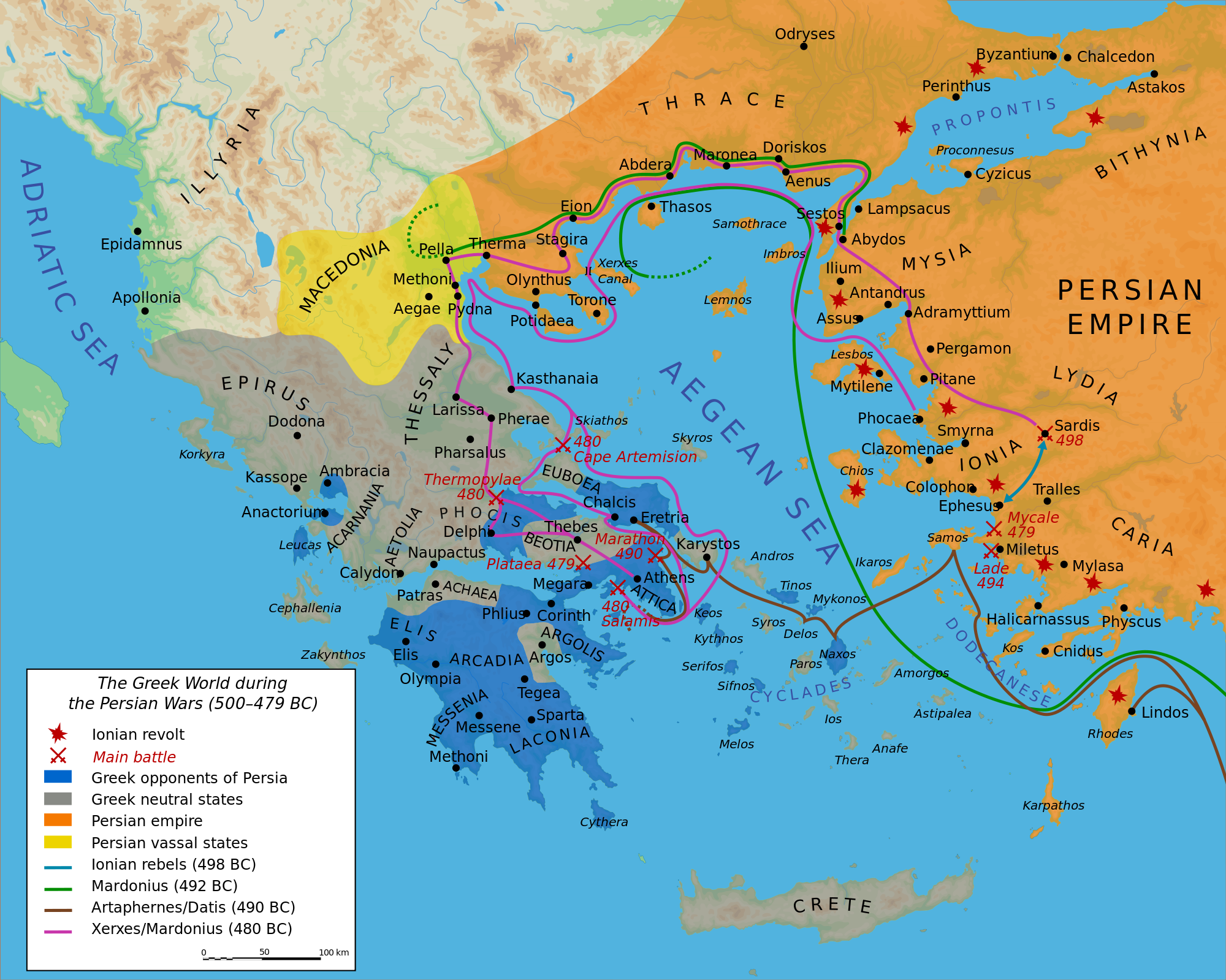 Persian clipart greek war Greco Wars Wikimedia Map en
