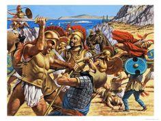 Persian clipart greek warrior Hoplite and Persian horseman this
