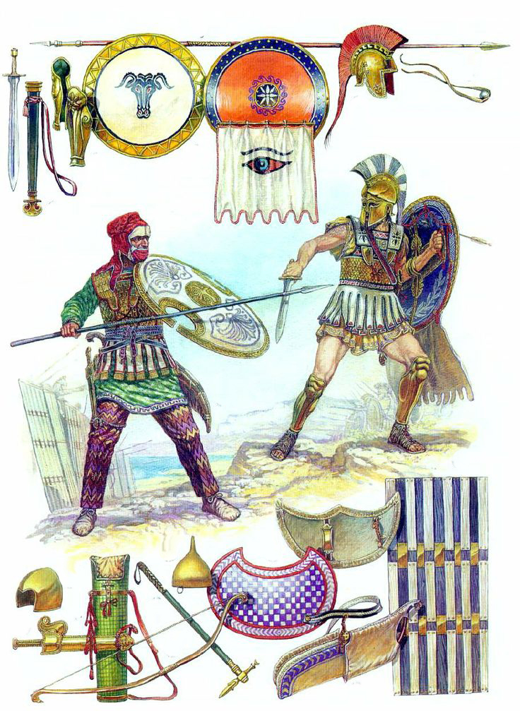 Persian clipart greek warrior Pinterest Persian warrior Hoplite vs