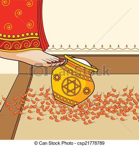 Persian clipart griha pravesh Griha Indian during  Griha