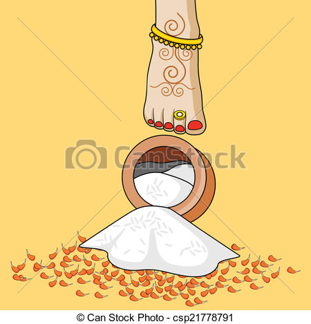 Persian clipart griha pravesh During ceremony bride Indian Griha