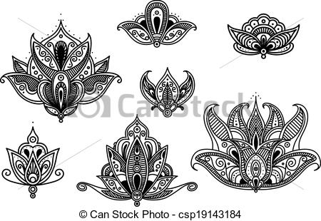 Persian clipart indian Blossoms  flower Vector blossoms