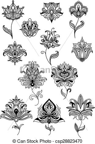 Persian clipart indian Of for indian textile paisley