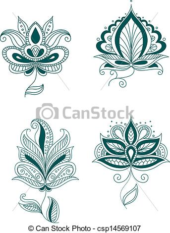Persian clipart indian Persian flowers or csp14569107 indian