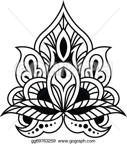 Persian clipart indian Bold style white Illustration and