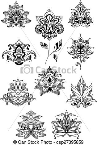 Persian clipart indian Paisley  paisley Clipart flowers