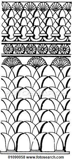 Persian clipart mesopotamian  & Line Ornament motifs