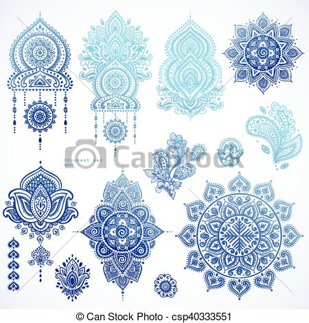 Persian clipart paisley Paisley set Ethnic Indian of