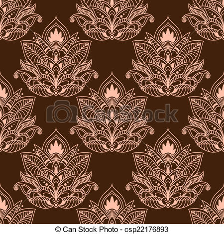 Persian clipart paisley Paisley of seamless  Brown