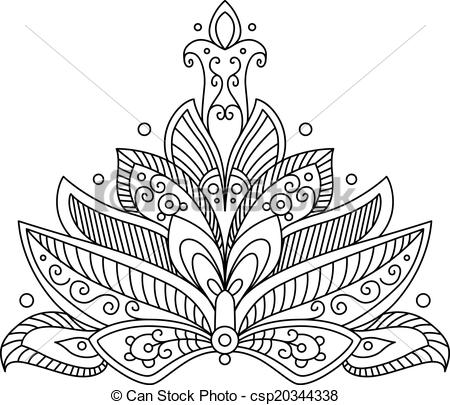 Persian clipart paisley Of Clipart Ornate paisley element